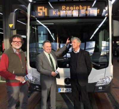 Hier bei der Einweihung des ersten Regiobusses im Landkreis Lörrach